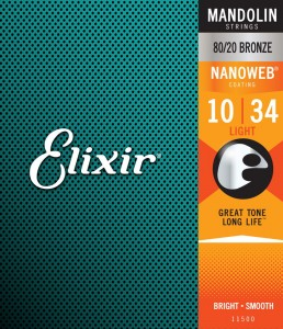 Elixir 11500 NanoWeb Mandolin Strings 10-34 Light - struny do mandoliny