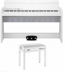 KORG LP380 WH (made in Japan) + Ława - pianino cyfrowe z ławą