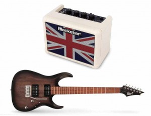 Cort X100 OPBB + BLACKSTAR FLY 3 Union Jack Mini Amp Ltd. Ed. cream - zestaw gitarowy