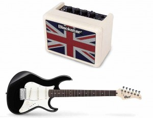 Cort G200 BK+ Blackstar FLY 3 Union Jack Mini Amp Ltd. Ed. cream - zestaw gitarowy