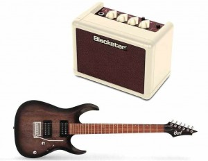 Cort X100 OPBB + Blackstar FLY 3 Mini Amp Vintage Ltd Edition - zestaw gitarowy