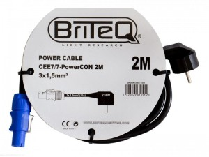 Briteq POWER CABLE CEE7/7-PowerCON 2M - kabel zasilający