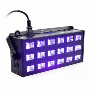 LIGHT4ME LED UV 18 X 3W REFLEKTOR + STROBOSKOP DMX