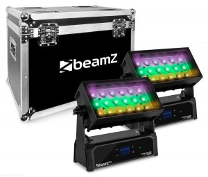 BeamZ 2 x Star-Color 270Z WASH ZOOM 18x 15W 4w1 IP65 + CASE - zestaw