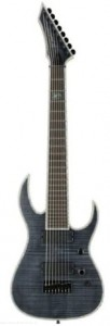 B.C. Rich Shredzilla Extreme 8 Exotic with Hipshot Bridge, 8-String - Flamed Maple Top, Trans Black Satin - gitara elektryczna
