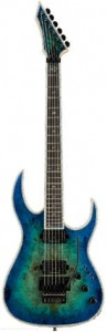 B.C. Rich Shredzilla Prophecy Exotic Archtop with Floyd Rose - Burl Top, Cyan Blue - gitara elektryczna