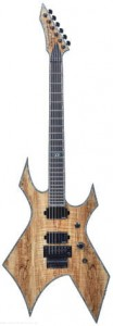 B.C. Rich Warlock Extreme Exotic with Floyd Rose - Spalted Maple Top, Natural Transparent - gitara elektryczna