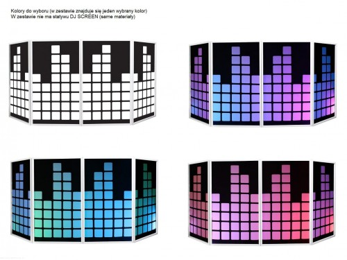 Equinox DJ Screen Heart Design Lycra (4 Pack) WH BK.jpg 33.jpg